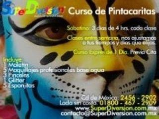 Curso de Pintacaritas de SuperDiversion.com.mx